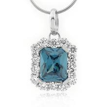 Emerald Cut Alexandrite Sterling Silver Pendant