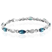 Alexandrite Color Change Sterling Silver Bracelet