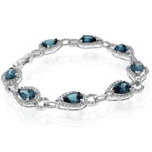 Pear Cut High Quality Alexandrite Sterling Silver Bracelet