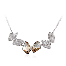 Gorgeous Sterling Silver Necklace with Swarovski crystals