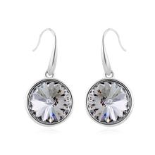 Round Swarovski Crystal Earrings