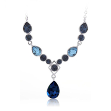 Divine Blue Swarovski Crystals Necklace