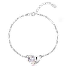 Bracelet with Swarovski Heart Color Black