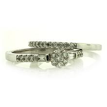 14K WHITE GOLD DIAMOND RING 0.50 CARAT GENUINE DIAMONDS