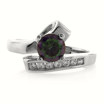 SMOKED STERLING SILVER TOPAZ RING