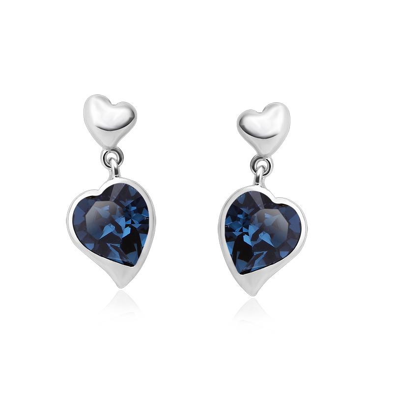 177e259e69ee Aretes Color Azul de Cristal Swarovski