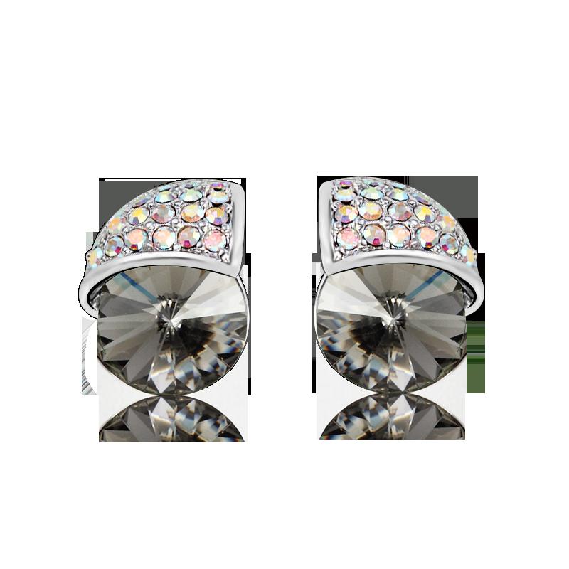 4416118ca4f4 Aretes de Cristal Swarovski Negros