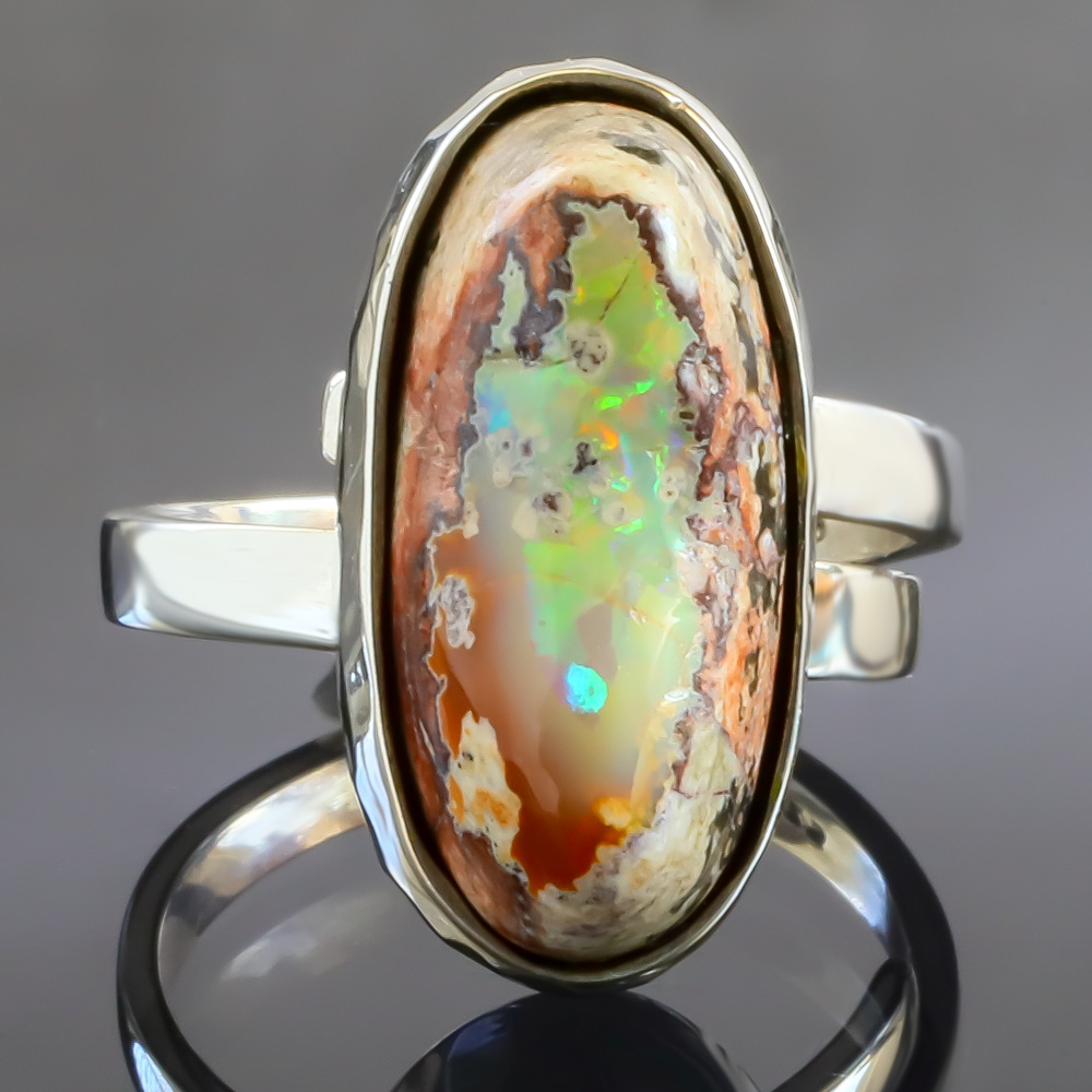 Genuine Opal /& Diamond Swan Pendant .925 Sterling Silver Rhodium Finish