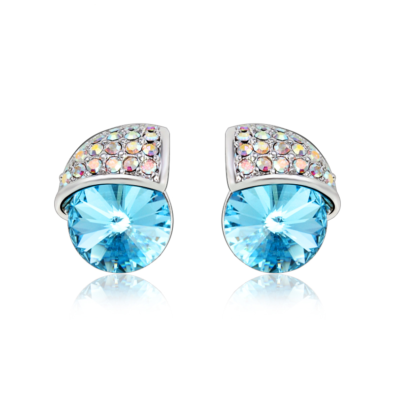 df7a45467b63 Aretes de Cristal Swarovski Azul