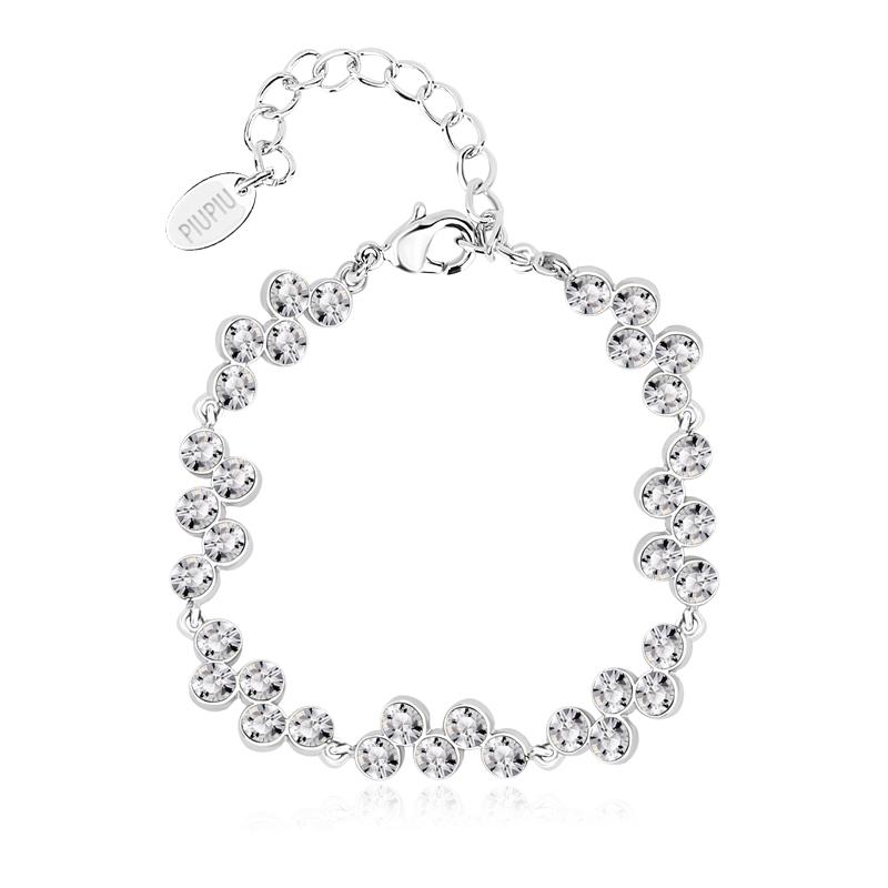 e43812f6a454 Alta Calidad de Pulsera de Swarovski con Cristales Blancas