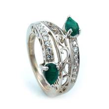 Emerald Quartz .925 Silver Ring