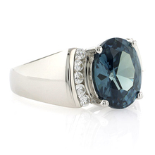 Big Oval Cut Alexandrite .925 Silver Ring