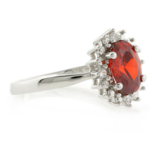 Mexican Fire Cherry Opal Sterling Silver Ring