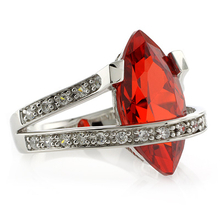 Fashion Mexican Fire Opal .925 Silver Ring
