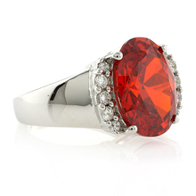 Huge Mexican Fire Opal Silver Ring