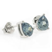 Pear Cut Alexandrite Stone .925 Silver Earrings