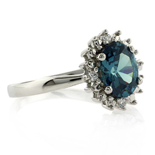 Color Change Alexandrite Ring in .925 Sterling Silver