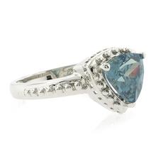 Gorgeous Trillion Cut Alexandrite .925 Silver Ring