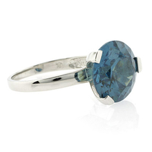 Solitaire Huge Alexandrite .925 Silver Ring