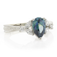 Blue Diamond .925 Sterling Silver Ring