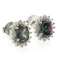 Caribbean Mystic Topaz Elegant Silver Earrings