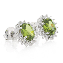 Very Elegant Peridot .925 Sterling Silver Earrings