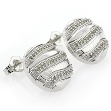 Genuine Diamonds .925 Sterling Silver Earrings