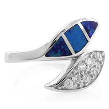 Leaf Shape Australian Opal Sterling Silver Ring