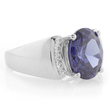 Huge Oval Cut Tanzanite .925 Silver Ring