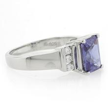 Beautiful Emerald Cut .925 Silver Tanzanite Ring
