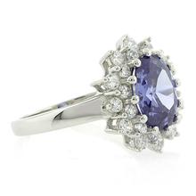 Elegant Tanzanite Sterling Silver Ring