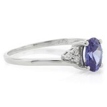 Oval Cut Solitaire Tanzanite .925 Silver Ring