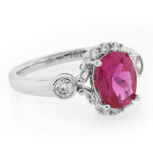 Oval Cut Authentic Pink Topaz .925 Silver Ring