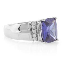 Emerald Cut Tanzanite Unisex .925 Silver Ring