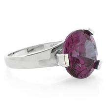 Huge Round Cut Alexandrite Changing Color .925 Silver Ring