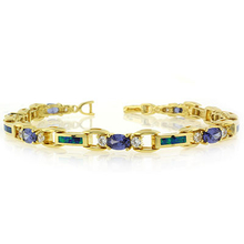 Gorgeous Tanzanite Stones and Australian Opal Gold Plated Bracelet