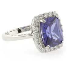 High Quality Tanzanite .925 Sterling Silver Ring