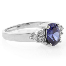 Oval Cut Tanzanite .925 Sterling Silver Ring