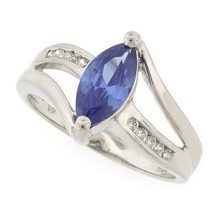 Marquise Cut Tanzanite .925 Sterling Silver Ring