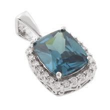 Blue to Green Color Change Alexandrite Silver Pendant