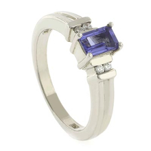 Emerald Cut Tanzanite .925 Silver Ring