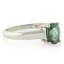 Oval Cut Authentic Green Tourmaline Ring in .925 Silver