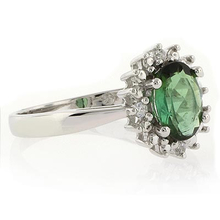 Authentic Green Tourmaline Ring in .925 Silver