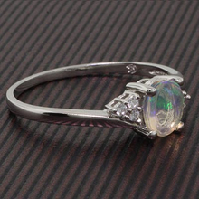 Mined Genuine Mexican Jelly Opal Silver Ring