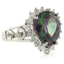 Fashion Mystic Caribbean Topaz Sterling Silver Ring