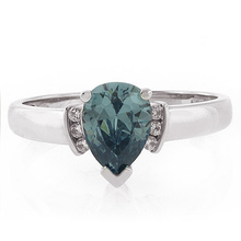 Alexandrite Blue to Green Color Change .925 Silver Ring