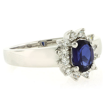 Oval Cut Sapphire .925 Silver Ring