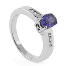Very Elegant Tanzanite .925 Sterling Silver Ring