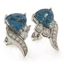 Color Change Alexandrite Very Elegant .925 Silver Earrings