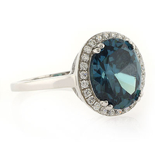 High Quality MicroPave Alexandrite .925 Silver Ring